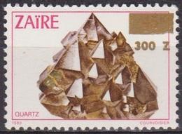 Ressources Minières - ZAIRE - Minéraux - Quartz - N* 1313 ** - Surchargé - 1990 - Zaïre