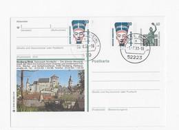 Mooie Postkaart Met 1 Voorgedrukte Zegel En 2 Geplakte Zegels En Mooie Stempels Uit Stolberg - BRD