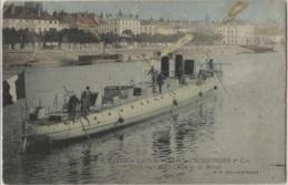 CPA - CHÂLON S/SAÔNE - Chantier SCNEIDER Cie - TORPILLEUR De 1ère CLASSE - Edition B.F. - Guerre