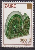 Ressources Minières - ZAIRE - Minéraux - Malachite - N* 1292 ** - Surchargé - 1990 - Zaïre