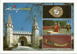 Palais Topkapi, Spoonmaker's Diamond,etc.  Carte Postale  Istanbul Adressée Andorra, Avec Timbre à Date Arrivée - Turquie
