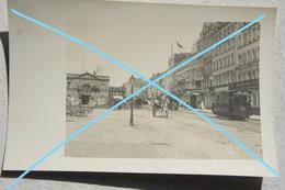Photo BOULOGNE SUR MER Grande Rue Attelage Tram Tramway Beaux Arts Hôtels Circa 1910 - Lieux