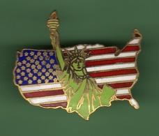 STATUE  LIBERTE SUR CARTE DES USA *** 008 - Ciudades