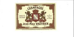 CHAMPAGNE  JEAN MAX VAUTHIER  ROSE A FLEURY LA RIVIERE  *****   RARE  A SAISIR   ***** - Champagne