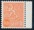 FINLAND 1974, M-63 Definitive PHOSPHOR Lion 0,40 Orange Type II HaQ** - Finlandia