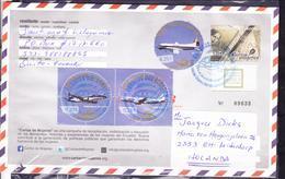 ECUADOR 2013 POSTAL STATIONARY COVER TO NETHERLANDS TAME AIRPLANES EMBRAER E-JETS AIRBUS A-360 AVRO-748 CARTAS DE MUJERE - Flugzeuge