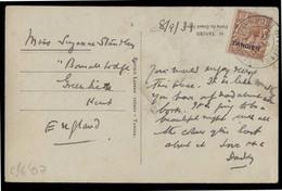 MARRUECOS - British. 1933 (8 Sept). Tangier - UK. PPC Fkd Card Ovptd. Comercial. - Morocco (1956-...)