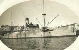 """3101 """"AGNETEMAERSK-NAVE DA CARICO DANESE-1921-ANCORATA IN PORTO """" FOTO ORIGINALE - Barche"""