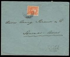 PARAGUAY. 1896 (4 Feb). Asuncion - Argentina. Fkd Env 20c / Doble Rate / Cds. Fine. - Paraguay