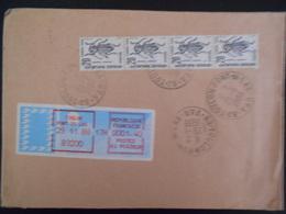 France Taxe , Lettre Adresse En Poste Restante A Toulon En 1989 - 1960-.... Cartas