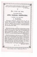 Bidprent Anna Barbara Hoefnagels Afferden Gelderland 12/08/1800 Sint-Amandsberg (gent) 22/09/1880 Weduwe J. Egbers - Religione & Esoterismo