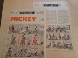 SPI19 2 FEUILLES 2 Pages / MUSEE DE LA BANDE DESSINEE : MICKEY PAR WALTER D'ISIGNY - Books, Magazines, Comics