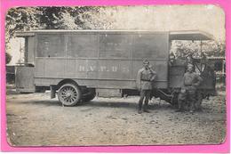 """Cpa PHOTO AUTOMOBILE Ou CAMION Indications """" R.V.P.B 75 """" Soldats, Militaires. ETAT - Photographs"""