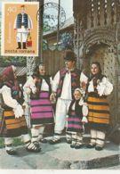 CULTURE, FOLKLORE COSTUMES FROM MARAMURES REGION, CM, MAXICARD, CARTES MAXIMUM, 1980, ROMANIA - Costumes