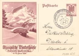 MiNr. P257 SST Garmisch 1936 - Allemagne