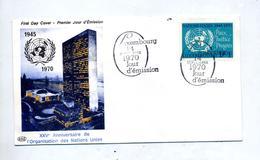 Lettre Fdc 1970 Nations Unis Publicite Medicale - FDC