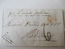 MARQUE POSTALE  LETTRE    RIO De JANEIRO   Vers  BORDEAUX   1855 - Marcophilie (Lettres)