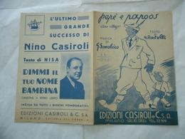SPARTITO MUSICALE SOLDATO ALPINO PEPè E PAPOOS RASTELLI NISA. - Musica & Strumenti