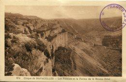 CPA -  CIRQUE DE NAVACELLES - FALAISES ET FERME DE LA BAUME ORIOL - France