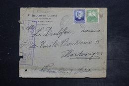ESPAGNE - Enveloppe Commerciale De Palafrugell Pour La France En 1937 Avec Cachet De Censure - L 26490 - Republikanische Zensur