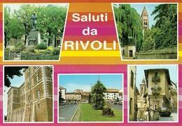"3105 ""SALUTI DA RIVOLI "" 5 VEDUTE CARTOLINA POST. ORIG. NON SPEDITA - Saluti Da.../ Gruss Aus..."