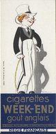 M-P MARQUE-PAGE SIGNET BOOKMARK PUBLICITÉ TABAC  CIGARETTES  WEEK-END  LOTERIE NATIONALE POULBOT - Bookmarks