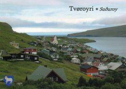 1 AK Färöer Faroe-Islands * Blick Auf  Tvøroyri – Der Größte Und Wichtigste Ort Auf Der Insel Suduroy – Luftbildaufnahme - Färöer