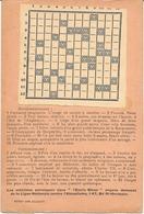 ANTIALCOOLISME - Carte De MOTS CROISES éditée Pour L'Union Française Contre L'Alcool. PARIS - Cartes Postales