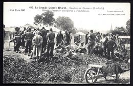 CP 2- 2 CPA ANCIENNES- MILITARIA- GUERRE 1914- COMBATS DE CARENCY- BLESSÉS ALLEMANDS TRANSPORTÉS A L'AMBULANCE - Guerre 1914-18