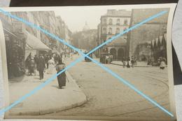 Photo BOULOGNE SUR MER Grande Rue Animée Tram Tram à Traction Chevaline Commerces Circa 1910 - Lieux