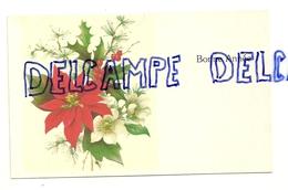 Carte De Voeux De Nouvel An. Bouquet De Noël. Ellebore, Houx, ... 1987 - Vieux Papiers