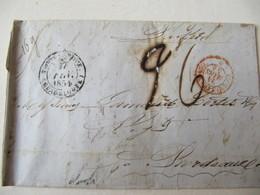MARQUE POSTALE      POINTE à PITRE  Vers  BORDEAUX   1854 - Marcophilie (Lettres)