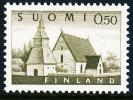 FINLAND 1972, M-63 Definitive PHOSPHOR Lammi Church 0,50 BoQ** - Finlandia