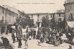 CPA   84  SAULT LE MARCHE  PLACE DE LA MAIRIE BELLE ANIMATION VOIR ETAT - France