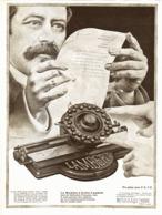 """PUB MACHINE à ECRIRE """" LAMBERT """"  1910 ( 1 ) - Technical"""