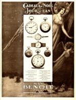 "PUB MONTRES "" JEAN BENOIT FILS ""   1917  ( 1 ) - Watches: Old"