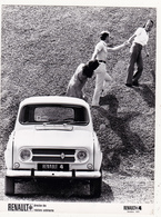 Photographie 18 X 24 RENAULT 4 (1970 ) 4L + Mesure Des Côtes + Caractéristiques (4 Pages) Document Régie Renault 3 Scans - Automobiles