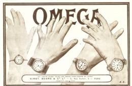 """PUB MONTRES """" OMEGA """"   1917 ( 29 ) - Orologi Antichi"""