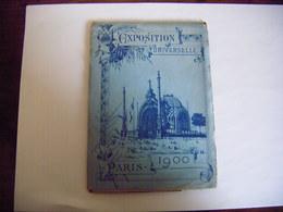 EXPOSITION UNIVERSELLE PARIS 1900 CARNET RECUEIL GUIDE  DE 12 DESSINS ORIGINAUX COMPLET EN T.B.E. - Ausstellungen
