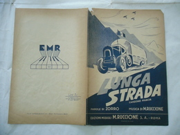 SPARTITO MUSICALE AUTARCHIA AVIAZIONE LUNGA STRADA CANZONE MARCIA RUCCIONE 1942 - Altri