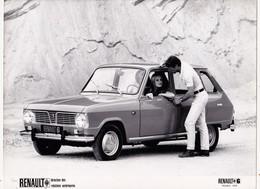 Photographie 18 X 24 RENAULT 6 (1970 ) 4L + Mesure Des Côtes + Caractéristiques (4 Pages) Document Régie Renault 3 Scans - Automobiles