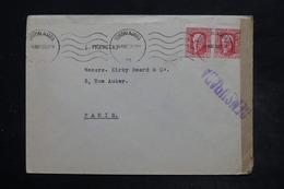 ESPAGNE - Enveloppe De Guadalajara Pour La France En 1938 Avec Cachet De Censure - L 26500 - Bolli Di Censura Repubblicana