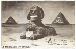 """PUB DENTIFRICE  """" EAU De SUEZ """" Par O'GALOP  1908 ( 2 ) - Publicité"""