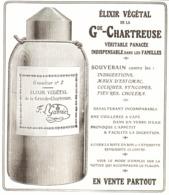"""PUB  ELIXIR VEGETAL De La   """" GRANDE CHARTREUSE  """"  1908  ( 1 ) - Alcohols"""