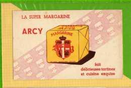 Buvard & Blotting Paper : Margarine ARCY  La Super Rose - Produits Laitiers