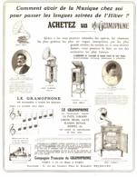 """PUB """" COMPAGNIE FRANCAISE De GRAMOPHONE   """" 1908 ( 1 ) - Technical"""