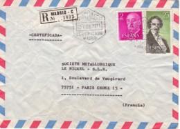 ESPAGNE : 1976 - Lettre Commerciale, Recommandée, Par Avion, Pour La France - 1931-Aujourd'hui: II. République - ....Juan Carlos I