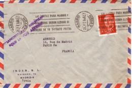 ESPAGNE : 1965 - Lettre, Par Avion, Pour La France - Affranchissement Insuffisant - 1931-Aujourd'hui: II. République - ....Juan Carlos I
