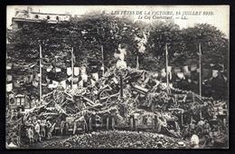 CP 2- 2 CPA ANCIENNES- MILITARIA- FETES DE LA VICTOIRE- 14 JUILLET 1919- LE COQ COMBATTANT- TRES GROS PLAN - Guerre 1914-18