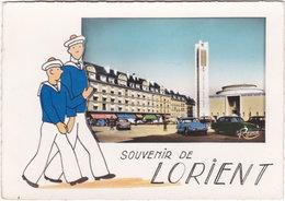 56. Gf. Souvenir De LORIENT. La Place Alsace-Lorraine Et L'Eglise Saint-Louis. 197 - Lorient